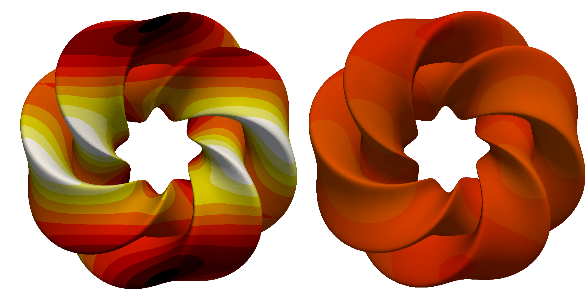 Sensitivity analysis of the heat equation on a Gray's Klein bottle